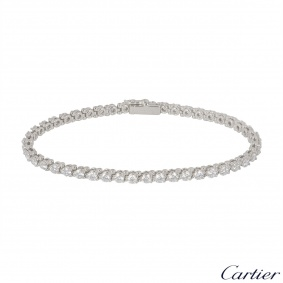 Cartier Platinum Diamond Line Bracelet 4.60ct
